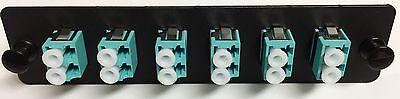 Fiber Optic Adapter Panel, 10 Gig Multimode, 6 LC Duplex, 12 Ports om3 - 8731