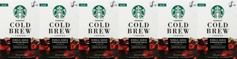 36 Starbucks Cold Brew Medium Roast Concentrate Black Best Before 11/2020