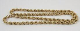 "9ct Gold 22"" Inch Rope Chain ( 9.5 Gram )"