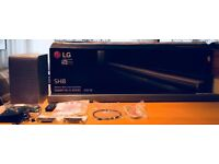 LG SH8 Soundbar and Sub, Unused, includes all cables, mains. 420 Watts of pure power. Amazing piece!