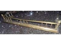 Vintage antique brass fire fender