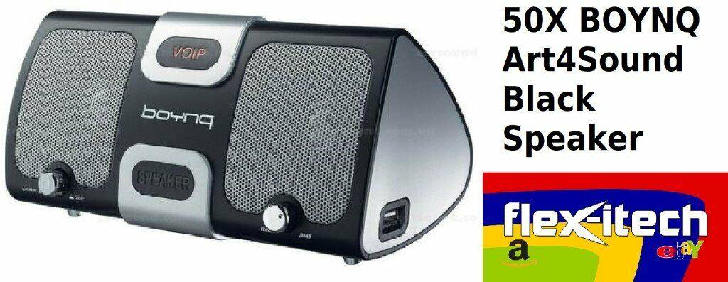 JOBLOT! BOYNQ Art4Sound PC Speaker x50 VOIP Skype Assistant USB 3 0 Windows  10 + Headset Black   in Coalville, Leicestershire   Gumtree