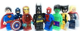 8 x Lego Figures Quality Marvel Avengers DC Super Hero Figure Set Fits Lego Spiderman and more