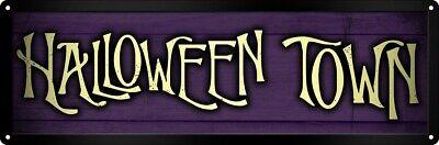 Tin Sign Halloween Town 30.5x10.1cm