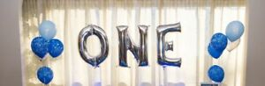 First birthday party decoration helium balloon silver