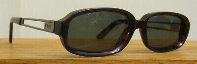 DKNY Ivar MK1023 brown tortoise & gunmetal Oval SUNGLASSES