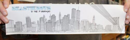 "Beastie Boys Original NYC ""To the 5 Boroughs"" Promo Poster 2004"