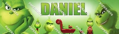 Grinch Poster (The Grinch Movie Personalized Custom Poster Glossy Banner -)