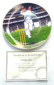 **RARE**Dennis Lillee Collector's Plate~Bradford Australian Fine China With Cert