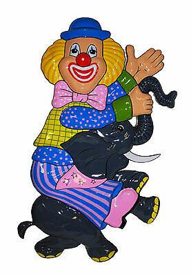 Wanddeko Clown Bodo NEU - Partyartikel Dekoration Karneval Fasching