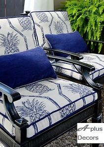 Outdoor curtains, blinds and cushions