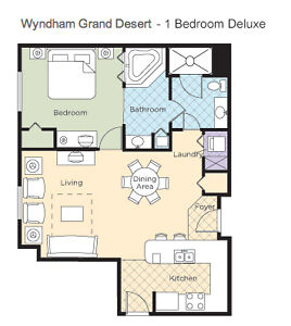 3 nights at the Wyndham Grand Desert