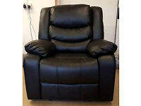 Brand New Power Recliner Massage Leather Chair - Black. Can Deliver