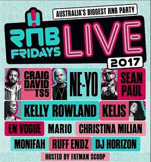 2 x Silver RNB Friday's Live Brisbane Tickets