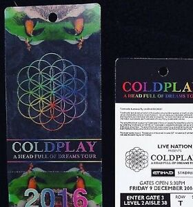 Coldplay Tickets available Fawkner Moreland Area Preview