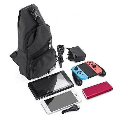 Travel Battery Backpack Crossbody Travel Case Bag For Nintendo Switch Black