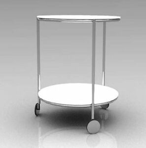 Table d'appoint Ikea ronde blanche