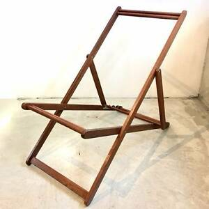 Deck Chair Frame (Iron Wood) Petersham Marrickville Area Preview