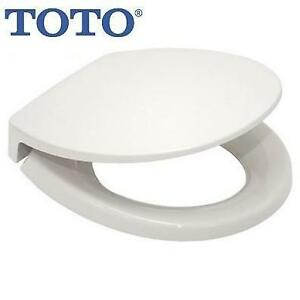 NEW ROUND SOFT CLOSE TOILET SEAT SS11301 226367429 TOTO TRANSITIONAL COTTON WHITE CLOSED FRONT