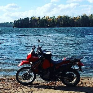 2009 Kawasaki KLR650.  Ready for touring!