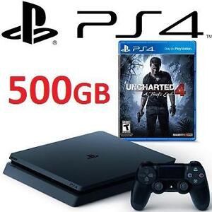 NEW PS4 SLIM 500GB UNCHARTED BDL PlayStation 4 Slim 500GB Console Uncharted 4 Bundle VIDEO GAMES SYSTEMS 113487864