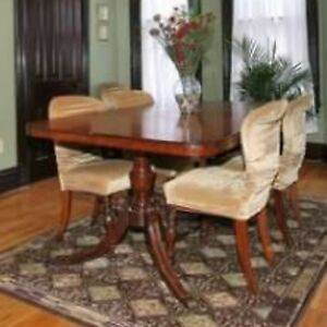 FREE Antique Duncan Phyfe style 1940s dining room table w/chairs
