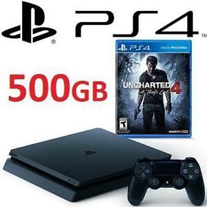 NEW PS4 SLIM 500GB UNCHARTED BDL - 113487864 - PlayStation 4 Slim 500GB Console Uncharted 4 Bundle VIDEO GAMES SYSTEMS