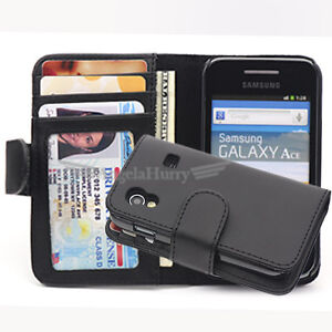 Samsung Galaxy Ace S5830 Slim Leather Credit Flip Case Cover Pouch