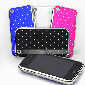 Diamond Electroplate Hard Rhinestone Case Cover For Apple iPhone 3GS 3G 3