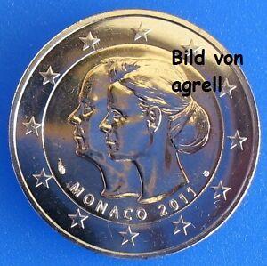 2-EURO-MONACO-GEDENKMUNZE-2011-HOCHZEIT-ALBERT-II-LOSE