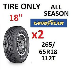 2 NEW GOODYEAR 18 FORTITUDE TIRES 243146269 ALL SEASON 265/65R18 112T