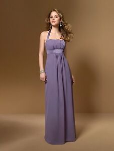 Eggplant purple dress and white sash