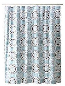Captivating Blue And Brown Shower Curtains