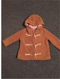 Next Coat Brown age 18-24 months