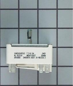 WB24T10027 replaces: WS01F01651 769694, AP2024074 Surface Burner Switch - 8 - 2100W