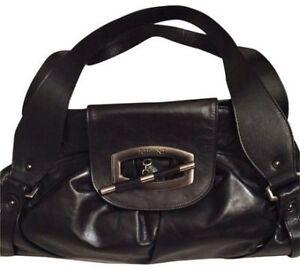 RIPANI LEATHER HAND BAG BLACK