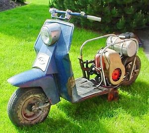 NEW PRICE ! Antique 1950s Cushman  Scooter 8hp
