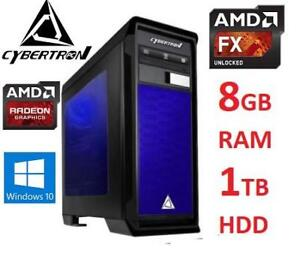 RFB* CYBERTRON GAMING DESKTOP PC TGMRHDR7X4000BU 219930511 FX 4300 8GB RAM 1TB HDD R7 360 GPU WIN 10 COMPUTER REFURBI...