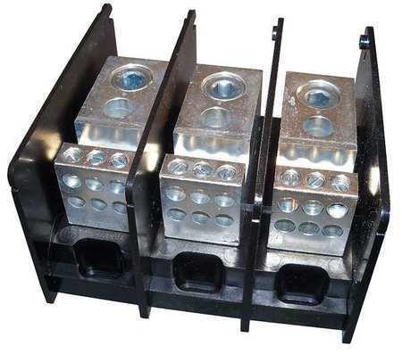 MERSEN MPDB66463 Pwr Dist Block,380A,3P,6P Secondary,600V