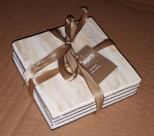 Pier One - Ivory Mother-of-Pearl Coasters Set of 4, NEW