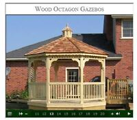 10' Octagon Gazebo in Southern Pine