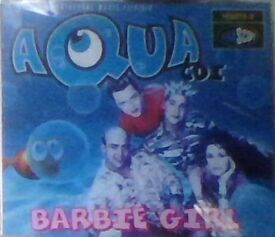 cd s,aqua cd single,barbie girl.
