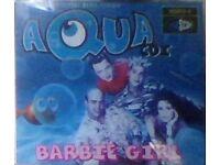 cd s,aqua cd single,barbie girl.