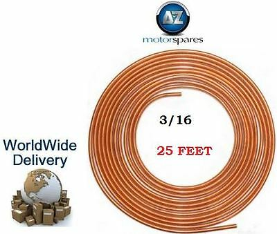 COPPER PIPE 3/16 BRAKE pipe brake FLUID LINE pipe 25 FEET LONG for HONDA CARS