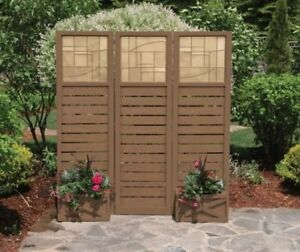 Three Panel Privacy Fence with Planter - Brand New in Box!