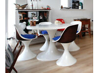 Gorgeous Vintage Tulip dining table with 4 chairs 60's 1960's 50' 1950's great condition