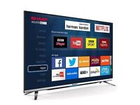 "SHARP 49"" 4K UHD SMART WI-FI TV HD FREEVIEW USB PLAYER . ULTRA SLIM ."