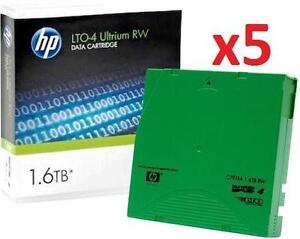5 NEW HP LTO4 1.6TB TAPE DRIVES C7974A LTO4 ULTRIUM 1.6TB LTO-4 TAPES 105904366
