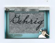 2012 Topps Baseball Historical Stitches