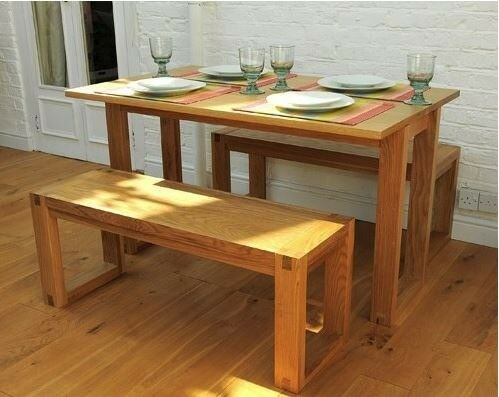 Enjoyable Oak Futon Company Fold Away Dining Table And Benches In Wood Green London Gumtree Short Links Chair Design For Home Short Linksinfo